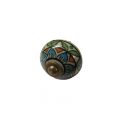 Multicolour Metal Knob