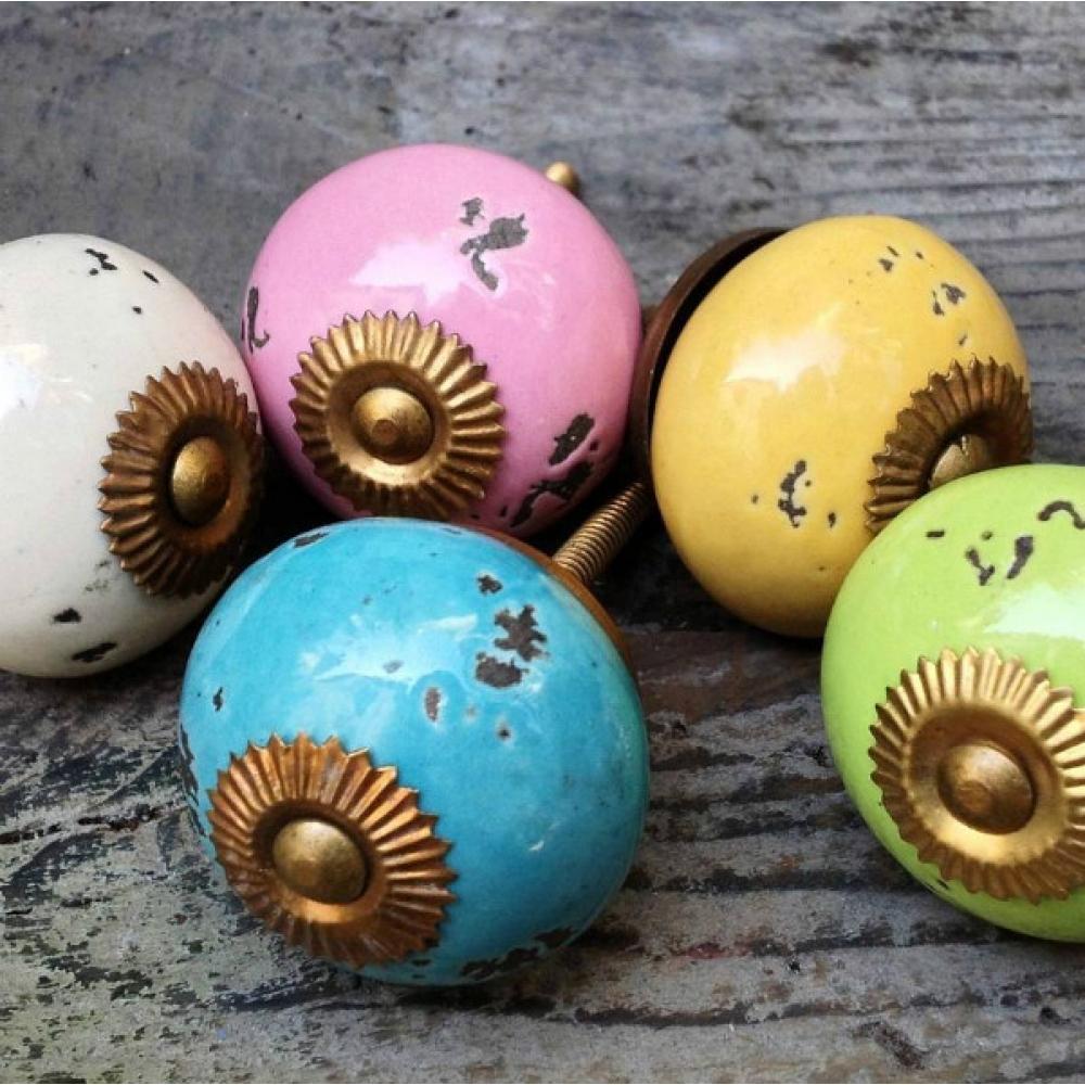 Antique ceramic knobs