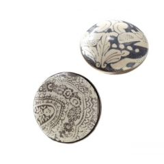 Traditional printed ceramic knobs