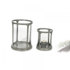 Industrial Candle Holder S/2