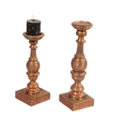 Engraved Candle Holder S/2
