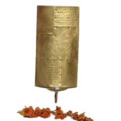 Golden Sheet Candle Holder