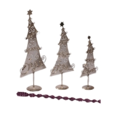 Christmas Tree Candle Holder S/3