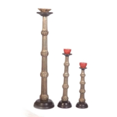Embossed Candle Holder S/3
