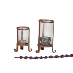 Copper Candle Holder S/2