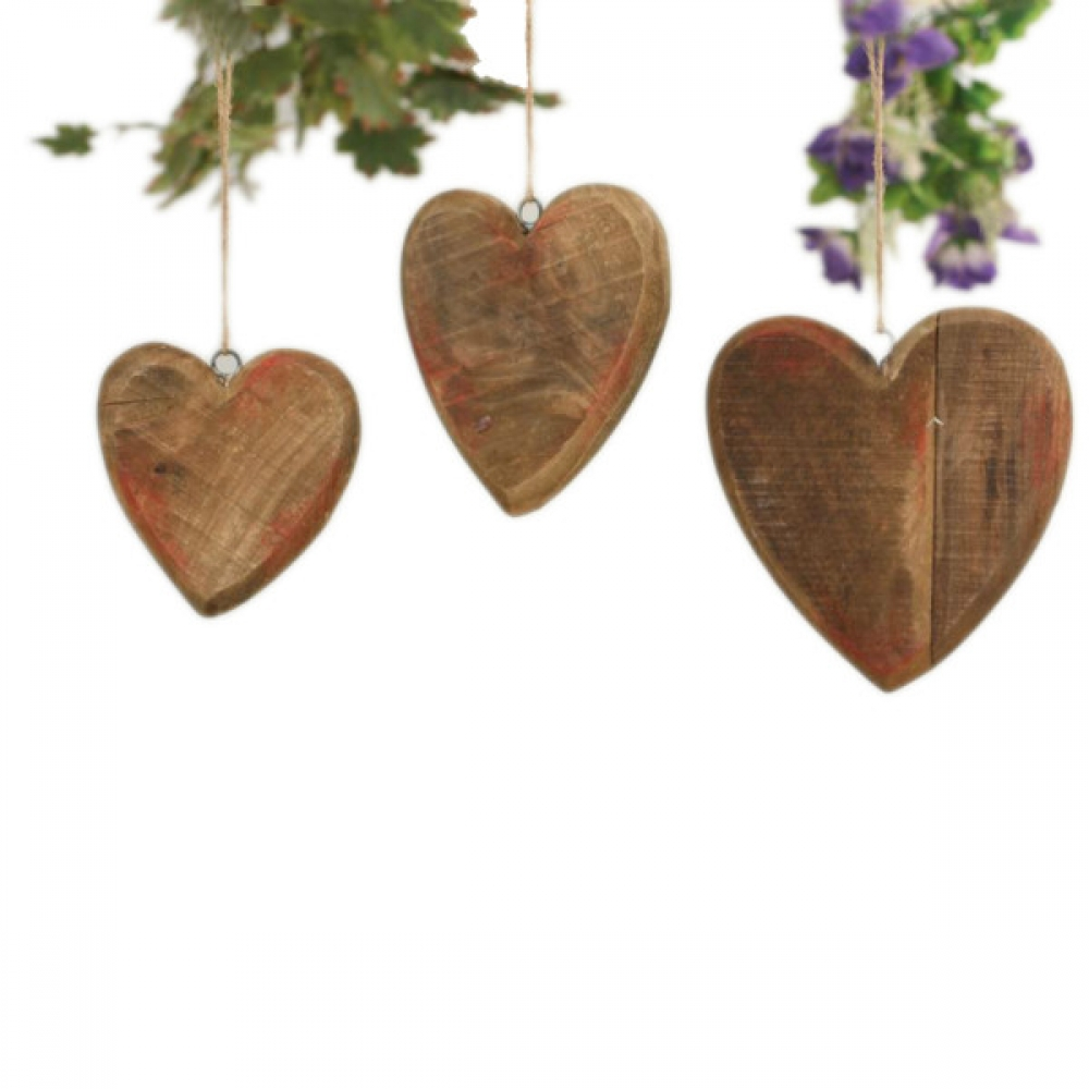 Decorative Hanging Hearts S/3
