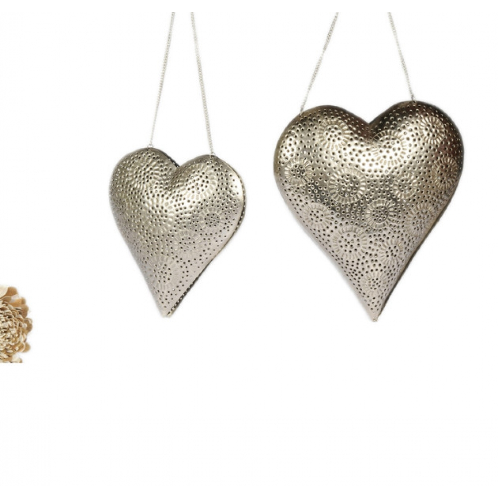 Heart  Hanging Votive Holder S/2