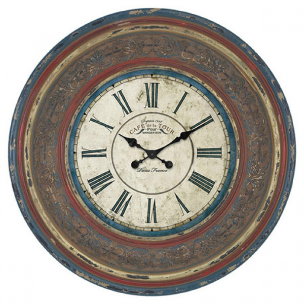 Distressed Painted Clock
