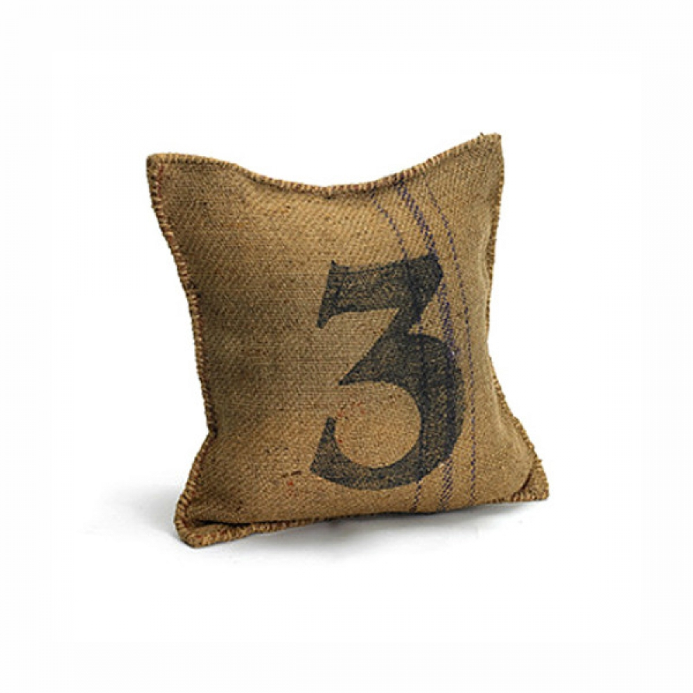 Printed Jute Cushion