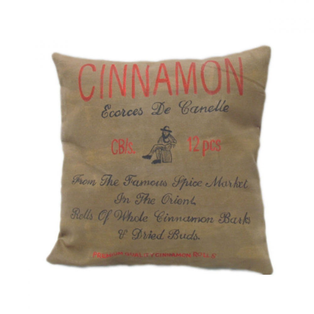 Cinnamon Printed Canvas cushion