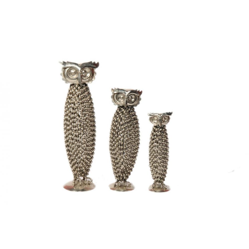 Decorative Owl S/3