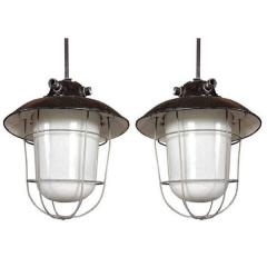 Metal Hanging Lamp S/2