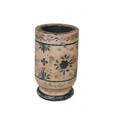 Painted Wooden Jar