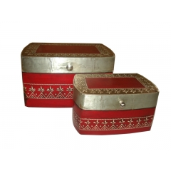 Embossed Jewellery Box S/2