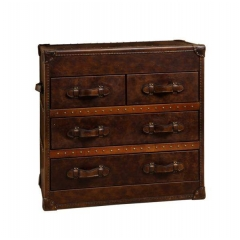 Distressed Vintage leather chest