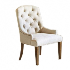 Buttoned Tuffed  Armchair