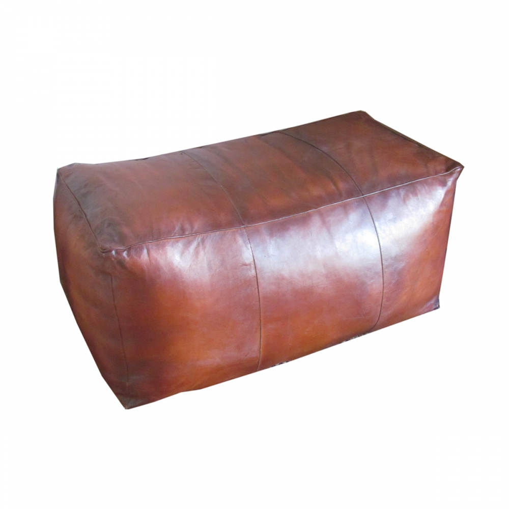 Leather puff