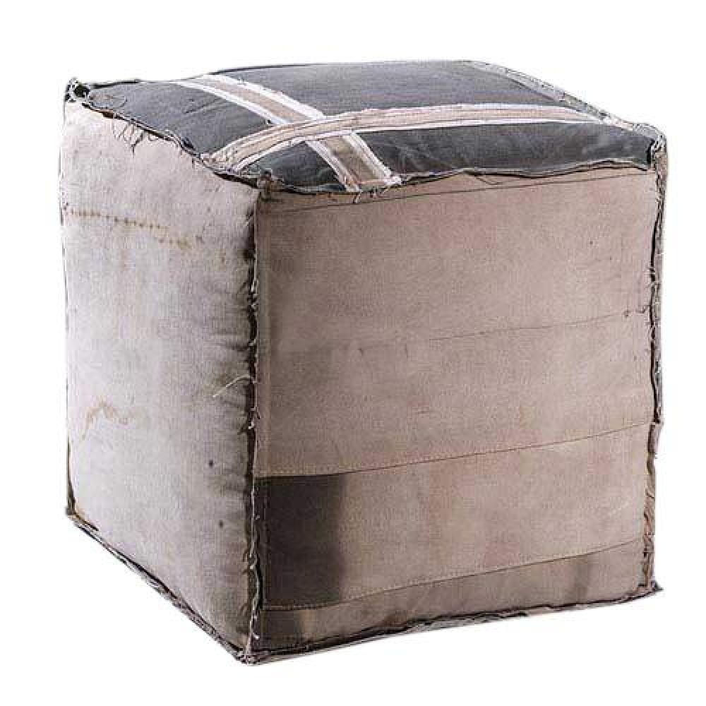 Square Canvas Ottoman