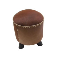 Cylindrical Leather Seater
