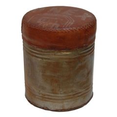Recycled Rusted Drum Stool