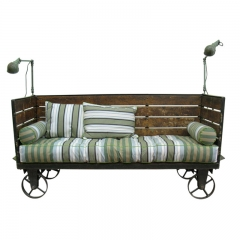 Industrial Bench with wheels