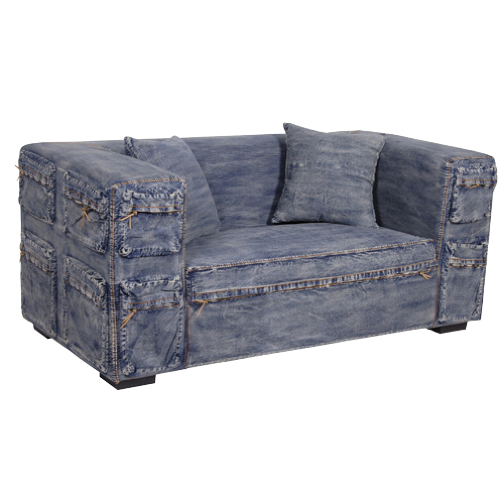 Rustic Denim Sofa