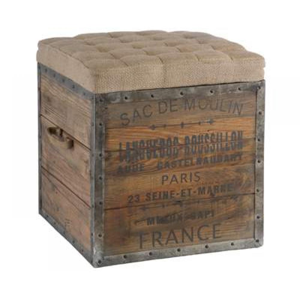 Jute & Wooden Box
