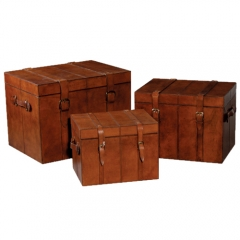 Vintage Leather Trunk