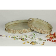 Hand Embossed Tray S/2