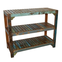Distressed Painted BookShelf