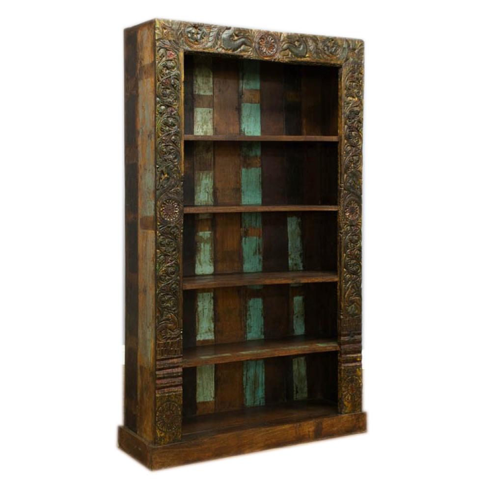 Recycled  Carved Bookcase