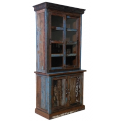 Tall Bookshelf with Door Cabinet
