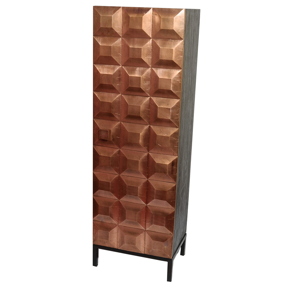 Diamond Shape Tall Cabinet