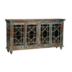 Sideboard with Blue Distressed Finished