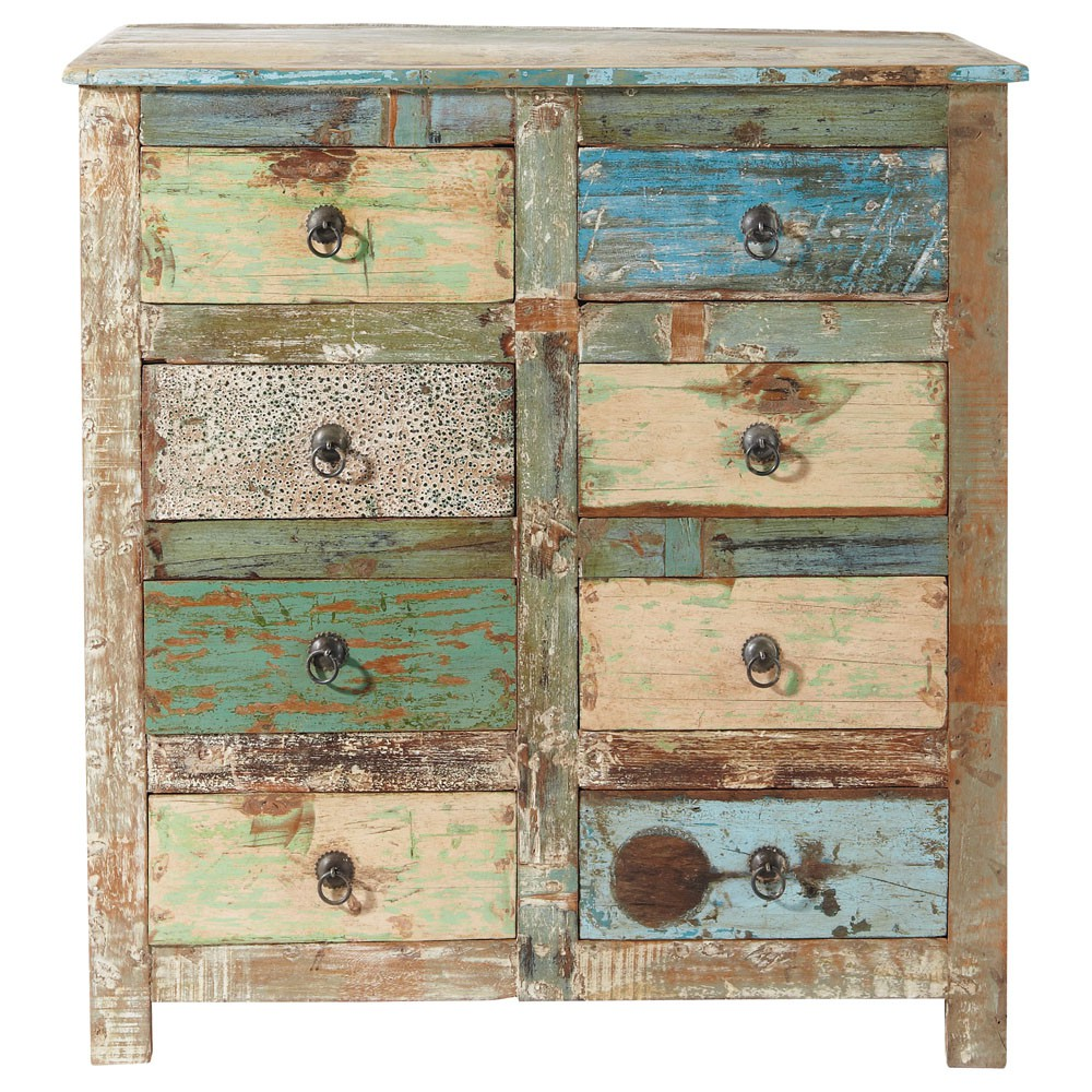 8 Drawer Cabinet in Distressed Finish