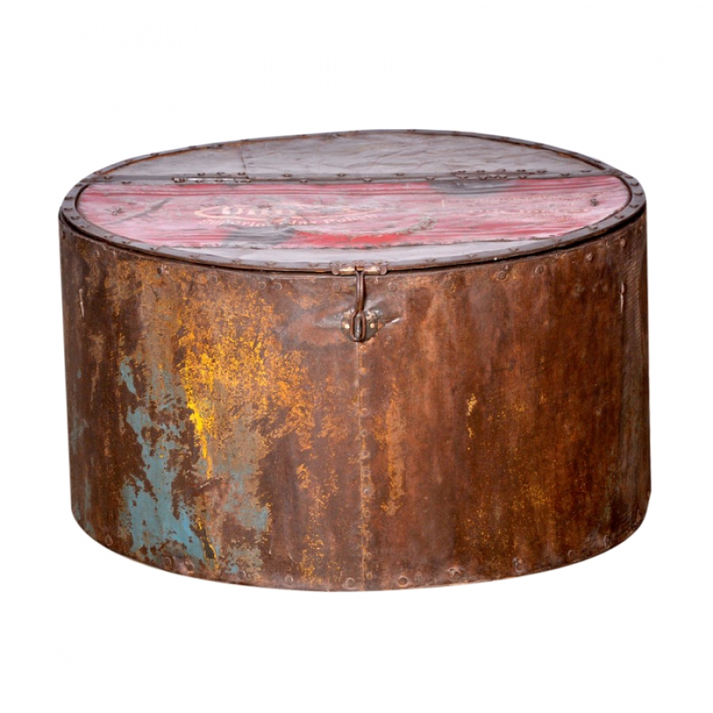 Round Rustic Box with lid