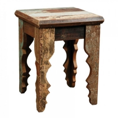 Multi color Square table in Distressed Finish