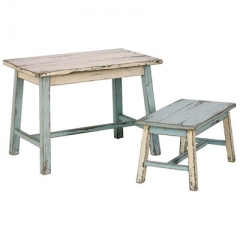 Reclaimed Desk & Stool