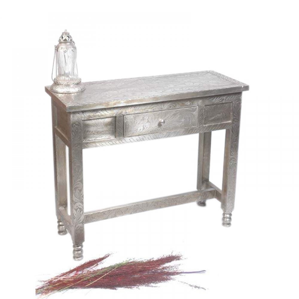 Metal Fitted 1 Door Console Table