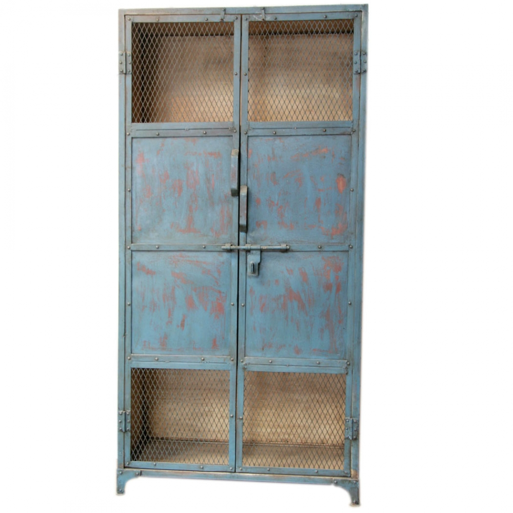 Blue Painted Industrial  Almirah