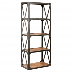 Metal Framed Bookshelf