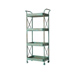 Distressed Metal Bookshelf