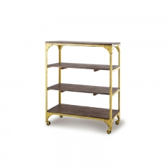 4 Tiered Industrial Bookshelf