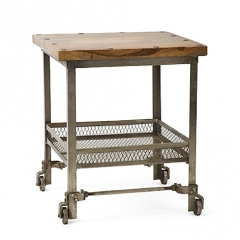 Industrial Table With Net Shelf