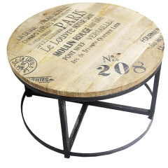 Distressed Finished Round Table