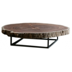 Coffee Table with Thick wood top