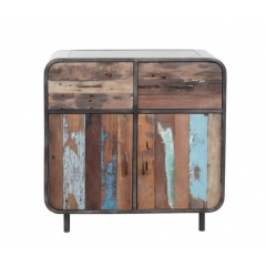 Distressed Colored Cabinet