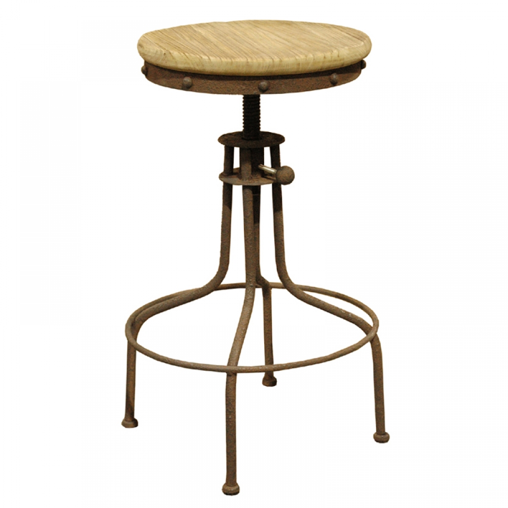 Antique Rust Finish Stool